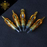 BIOMASER Sıcak Satış 10 adet Tek Kullanımlık Yarı-Kalıcı Makyaj Dövme Kartuşu İğne RL / RM / M1 / RS Dövme Gun Malzemeleri 1RL / 3RL / 5RL / 7R