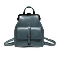 good quality Simple Solid Color Backpack Female High Quality...