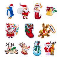 İşlemeli diker Aplike Sevimli Yamalar Unicorn Rozet DIY Giyim Aksesuarları üzerinde Giyim Demir için Noel Stil Yama
