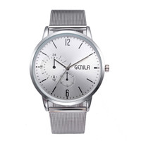 Casual Fashion Mens Watch High-End  Simple Round Glass Reloj Hombre Classic Quartz Metal Band Wirst Watch