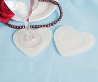 FEIS hotsale 2 개 심장 모양의 유리 코스터 테이블 친구 사진 아기 샤워 결혼식 호의 회사 행사 선물