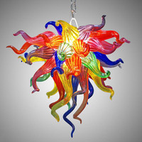 Multi Colored Blown Glass Chandelier Small Cheap Modern Art ...