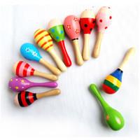 2018 bebê brinquedo de madeira chocalho bebê fofo chocalho brinquedos orff instrumentos musicais educativos brinquedos novo 0601862