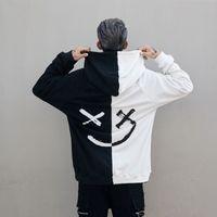 Männer Hoodies Lächeln Lächeln Drucken Xxxtentacion Hodies Lässige Print Lose Sweatshirts Cool Schwarz Weiß Paar Lustige Kleidung