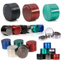 Colorido Sharpstone Grinder 4 capas de 40 mm 50 mm 55 mm 63 mm de aleación de zinc Tabaco amoladoras accesorios de fumar Smoking