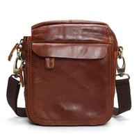 8dfe400096f3 Vintage Cow Genuine Leather Messenger Bags Men Travel Business Crossbody  Shoulder Bag For Man Sacoche Homme Bolsa Masculina Bags