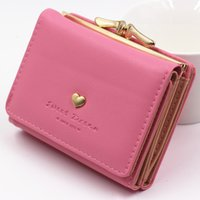 New Lady Wallet Leather Small Lock Money Coin Pocket Purse L...