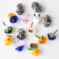Colorful Glass UFO Carb Cap for 2mm quartz banger Thermal P ...