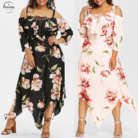2020 Sleeveless Summer Plus Size Print Half Dress Fashion Wo...