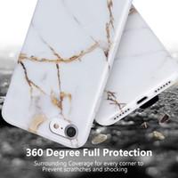 iPhone 8 Mermer Durumda iPhone 7 Yumuşak Durumda Mermer Tasarım kaymaz IMD TPU Jel Kauçuk Darbeye Telefon Kılıfı Cilt Kapak için Apple iPhon