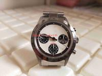 Retro Topkwaliteit BP Factory 38mm 6265 Vintage Paul Newman Cosmograph Chronograph Eta Movement Mechanical Hand-Winding Mens Horloge Horloges