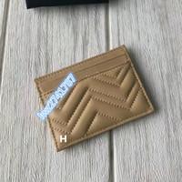 Популярная натуральная кожа внутри и внешний держатель карты для унисекс Женщины Мужчины Сумка кредитной карты с коробкой отличное качество