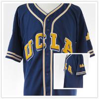 맞춤 남성 여성 청소년 UCLA BRUINS 야구 저지 모든 이름과 번호 저지 Hight 품질 크기 S-4XL