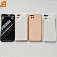 iPhone 8 Stil Metal Cam Tam Siyah Beyaz Kırmızı Siyah Arka Kapak gibi 8plus²uzaktan için iPhone için 6 6s 6 Plus 6s artı Geri Konut 8+