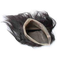 Prodotto per capelli umani vergini di alta qualità 360 marrone svizzero chiusura frontale in pizzo onda cambogiana dell'onda del corpo colore pieno naturale 10A cuticola
