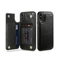 max 7 8 artı deri TPU durumda xs xr iphone 11 11pro max xs için kart yuvası kickstand tasarımcı telefon kılıfı