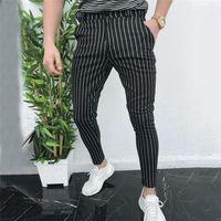Casuali dimagriscono Magro affari vestito convenzionale Abito Pantaloni Tuta pantaloni per gli uomini di Uomini Slacks pantaloni neri pantaloni della tuta uomo