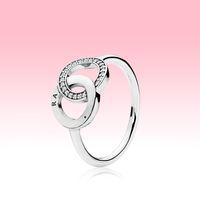 Real 925 стерлингового серебра CZ с алмазным кольцом с логотипом Оригинальная коробка FIT PANDORA CORM Обручальное кольцо Вовлечение Ювелирные Изделия для женщин