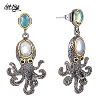 Deczign New Super! New Arrived Funny Octopus Drop Earrings f...