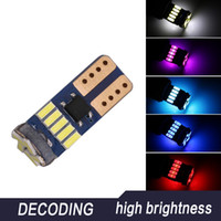 1 Parte T10 W5W 15 LED Canbus bulbos 4014 SMD lâmpadas brancas Erro Free Car Auto Wedge Luz Interior Dome Mapa Tronco Lamp Largura Lamp