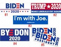 조 바이든 PVC 스티커 대통령 트럼프 범퍼 데칼 10PCS / 팩 자동차 스티커 USA 미국의 캠페인 Paster 벽 가방 액세서리 D62903