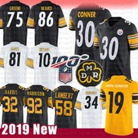 Jesse 30 James Conner Maillot Pittsburgh Steelers Smith-Schuster 58 Jack Lambert 86 Hines Ward 75 Joe Greene Edmunds Harris Bryant Harrison 1