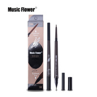 Música Flor Marca Ojos Maquillaje Mate Doble Cabeza Eyebrow Pencil + Liquid Eyebrows Tint Waterpoof Cosmética Natural de larga duración