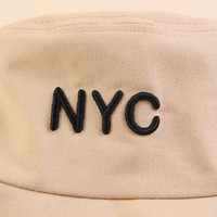 Moda-2019 NYC Carta bordado New Verão Fisherman Hat Big borda exterior Chapéu de Sol Bacia Chapéu de Sol