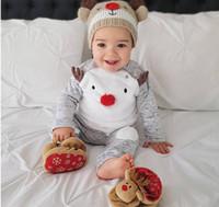INS 보이 크리스마스 긴 소매 Milu 사슴 인쇄상의와 바지 세트 아기 O-넥 T 셔츠와 바지 정장 어린이 두 조각 의류 KD 002