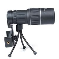 أسود واحد التركيز 16x52 التكبير أحادي تلسكوب عدسة السفر الإكتشاف نطاق hd أحادي العين التلسكوبات في جهاز شحن مجاني OTC001
