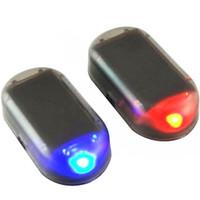 Système de sécurité Strobe Signal universel flash Avertissement Lampe LED d'alarme de voiture d'énergie solaire Simulation Faux Anti-vol Attention