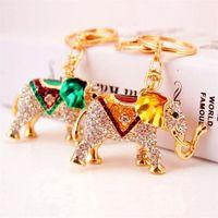Strass Animal pendente dell'elefante portachiavi nuovo arrivo dello smalto di cristallo Portachiavi Charms catene catenaccio chiave dell'automobile Portachiavi Artigianato