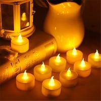 Творческий LED свеча лампа моделирование цвет пламени чай свет главная свадьба День Рождения украшения дома свечи YQ01371
