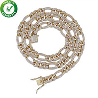 Catene lustrate Hip Hop Gioielli Designer Collana Mens Link cubani Luxury Pandora Charms in stile Bling Rapper Catena Hiphop Micro Pavimentate CZ Donna