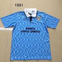 الرجعية 1989 1990 Lazio 1991 1992 Gascoigne 10 الكلاسيكية خمر تايلاند جودة كرة القدم الفانيلة زي كرة القدم الفانيلة قميص camiseta فوتبول