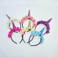 Decorativo Unicornio mágico cuerno de partido Cabeza del brillo pelo de la venda del vestido de lujo cosplay decorativo