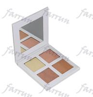 4 لوحات لون تسليط الضوء على الوجه bronzershighlighters بدون شعار اختيار فريق اللون اثنين قبول ورقة ورقة التسمية الخاصة حزمة 104mm * 103mm * 11mm