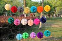 Dekorative Papierkugeln Partydekoration Papier Honeycomb-Kugel-Laterne-Partei-Dekor-Fertigkeit-Hochzeits-Ereignis Party Supplies 15cm YSY430-L