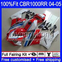 Inyección + Tanque para HONDA CBR 1000RR 04-05 CBR 1000 RR 2004 2005 275HM.48 CBR1000 RR CBR1000RR 04 05 Cuerpo de la OEM Cuerpo de carenado rojo blanco Fábrica