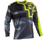 Популярные Популярные TLD Mountain Bike Speed Drop Service Велосипед / Мотоцикл Недорожный Футболка Поездка на рубашку с длинным рукавом Джерси