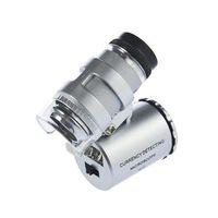 60x Handheld Mini Kieszonkowy Mikroskop Lupa Jubiler Lupa LED Light Łatwe do przenoszenia z lupą A660
