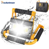 100W Portable LED Torch USB Rechargeable Work Lamp Camping Lantern Water Resistant Outdoor Search for Fish Hunt