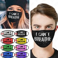 I Can' t Breathe Letters Printed Face Mask Sports Cyclin...