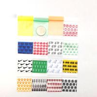 100pcs / lot di plastica serratura della chiusura lampo sacchetti colorati monili Food Storage pacchetto piccolo imballaggio poli richiudibile Zip Bag Thick