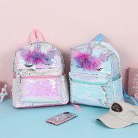 2 cores unicórnio mochilas crianças meninas desenhos animados 3d lantejoulas saco de escola de animais Novos adolescentes Mochila de viagem de moda