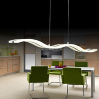 NEW Creative Dimmable Modern LED Chandeliers waves dining chandelier lustre lamparas colgantes for dinning room bedroom
