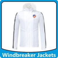 FC Cincinnati Soccer Windbreaker Bluzy Sport Kurtki z kapturem, FC Cincinnati Zipper Zipper Wiatrówka Piłka Nożna Płaszcz Zimowy Kurtki
