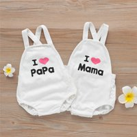 Newest INS Toddler Baby Girls Romper I Love Mama Papa Letter...