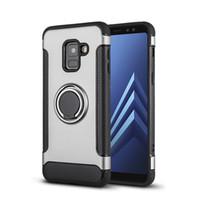 Caso con todo incluido fibra de carbono magnética del anillo del soporte del teléfono móvil para: Samsung A6 A7 A8 A50 M20 VIVO X7 X9 X21 PLUS 2019 Nuevo