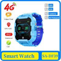 50x 4g детей Смарт часы GPS Tracker IP67 Водонепроницаемый Видеозвонок камеры GPS LBS WIFI Расположение 4g Часы SmartWatch Дети Подарочные часы